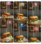 Продаютсяфлажки для бургеров, стейков, канапе с логотипом недорого