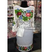 Продается нежное женское платье, вышивка бисером на атласе
