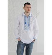 Качественная мужская вышиванка с коротким рукавом