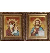 Венчальные иконы из янтаря от производителя