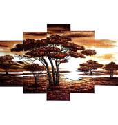 Модульные картины из янтаря — стильный элемент интерьера