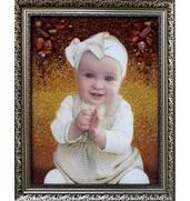 Оригинальный портрет из янтаря на долгие годы