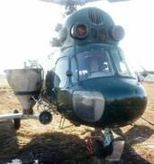 Внесение аммиачной селитры с вертолета Ми-2 самолета ан-2