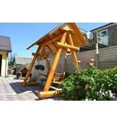 Уютные деревянные качели изготовим по Вашему проекту