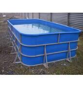 Крепкий полипропиленовый бассейн доступен в различных оттенках