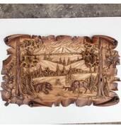 Роскошное деревянное панно доступно для заказа