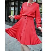 Покупайте платье меди плиссе недорого от производителя