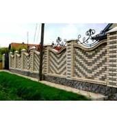 Красивые кирпичные заборы во Львове от компании А-Квадрат