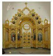 Пропонуємо золочення сухозлітним золотом іконостасу