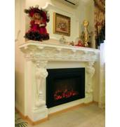 We build the gypsum fireplaces.Artistical works,gypsum moulding!