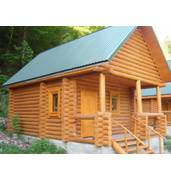 Wooden log houses, design, installation of roof