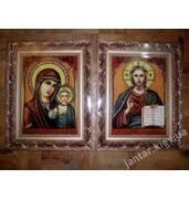 Свадебные иконы из янтаря купить в Украине