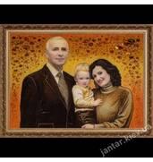 Семейный портрет из янтаря! Гарантируем качество!