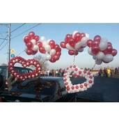 Оригинальное оформление свадьбы воздушными шарами