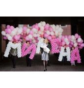 Оформлення повітряними кульками виписки з пологового будинку