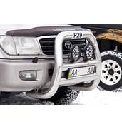 Защита переднего бампера авто с помощью кенгурятника