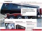 """Официальный сайт австрийского производителя транспортной и сельськохозяйственной техники """"Schwarzmuller"""""""