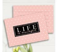 """Міні листівки """"Life is beautiful"""" (10 штук)"""