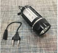 Фонарик аккумуляторный 3 + 3 диода, магнит / 15628
