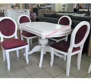 Дубовий кухонний комплект Топаз кільце зі стільцями Олімп з дерева