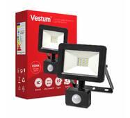 Светодиодный прожектор с датчиком движения Vestum 10W 1 000Лм 6500K 175-250V IP65 1-VS-3009