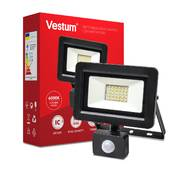 Светодиодный прожектор с датчиком движения Vestum 30W 2 900Лм 6500K 175-250V IP65 1-VS-3011