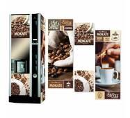 Наклейка на кавовий автомат Necta Astra