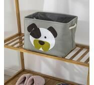 Кошик для іграшок прямокутний сірий Забавне цуценя