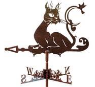 Флюгер на крышу с котом-хулиганом