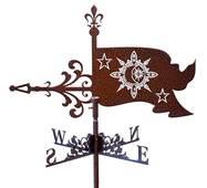 Флюгер на крышу флаг