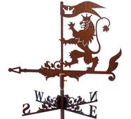 Флюгер на дах лев з прапором
