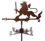 Флюгер на крышу лев с мечом