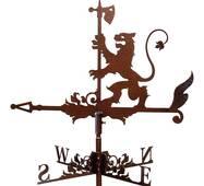Флюгер на дах лев з сокирою