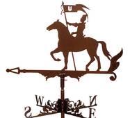 Флюгер на дах з козаком на коні