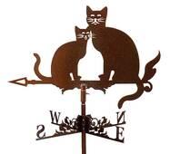 Флюгер на дах коти