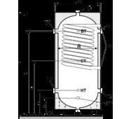 Бак акумулятор гарячої води ЕАI-10-500