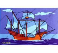 Мольбертики с акриловими красками Корабль
