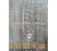 Высокий, стильный н/ж полотенцесушитель Elite 12/1250х500 мм. Прямоугольные перемычки. Вода + ТЭН = гибрид.