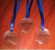 Скляні медалі під гравіювання арт. PG005