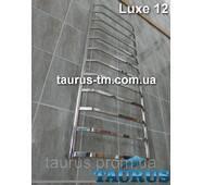 Большой полотенцесушитель Luxe 12 /1250х500 н/ж сталь: плоская перемычка трапецией 20х10 и круглая стойка D32