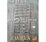 Громадный н/ж полотенцесушитель Elite 12/ 1250х450 мм с тонкими прямоугольными перемычками 20х10. Электро+вода