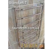 Полотенцесушитель водяной Standart 7/750 х 400 мм. из полированной н/ж стали. Перемычки по трапеции
