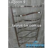 Полотенцесушитель нержавеющий Lagoon 9 / 950х500, с перемычками в виде волны из трубы 20х10 от TAURUS г.Смела