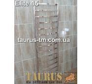 Гигантский узкий н/ж полотенцесушитель Elite 15/ 1550х400 мм из плоских труб 20х10 и круглых стоек.