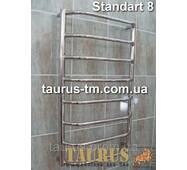 Практичный нержавеющий полотенцесушитель Standart 8/850х450 мм. Выступающие перемычки трапеция