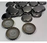 Кронен - пробка (тиражная) нержавеющая, с уплотнителем (бидюль) 29 мм (100 шт)