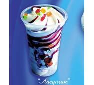 """Мороженое """"Ласунчик"""" ванильное с джемом"""
