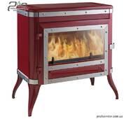 Чугунная печь INVICTA TENNESSEE красная эмаль - 8 кВт