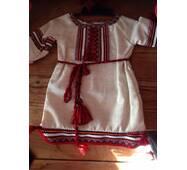 Национальный костюм для девочки с кружевом