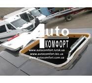 Люк автомобільний, металевий, 60х75, з аварійним виходом і повним відкриттям/закриттям